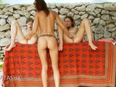 Three french chicks fingering snatches