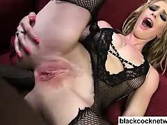 Allie James gets ass fucked hard by Mandingo