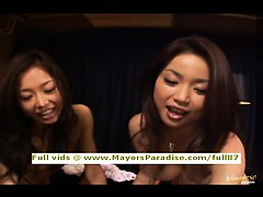 Three super lovely teen asians blowjobs