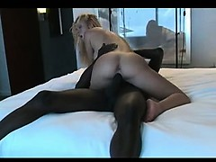 blonde brings a bbc home