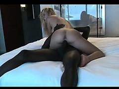 blonde brings a bbc home