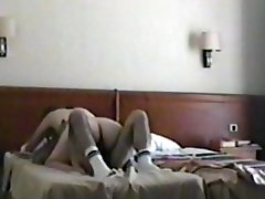 My wife Victory at hotel room