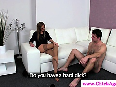 Casting euro director gives foot job