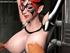Anime sex slave in huge tits gets nipples pinched