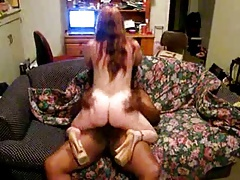 Big booty redhead wife fucked by black guy