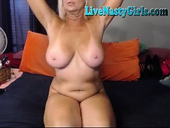 Big Boobed Granny Stretches Her Pussy 4