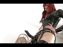 Japanese Mistress Tsubaki strapon (censored)