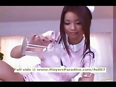 Risa Kasumi innocent Chinese nurse does blowjob